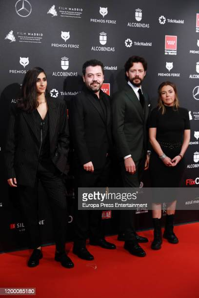 Cast of 'La Casa de Papel' attends Feroz awards 2020 red carpet at Teatro Auditorio Ciudad de Alcobendas on January 16 2020 in Madrid Spain