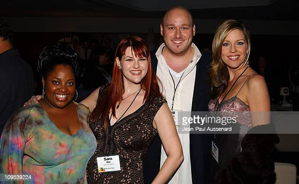 """Cast of """"Less Than Perfect"""": Sherri Shepherd, Sara Rue, Will Sasso and Andrea Parker"""