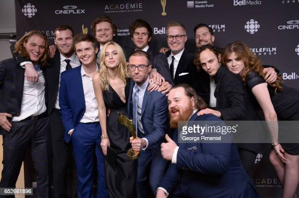 Cast of Letterkenny poses in the press room at the 2017 Canadian Screen Awards at Sony Centre For Performing Arts on March 12 2017 in Toronto Canada