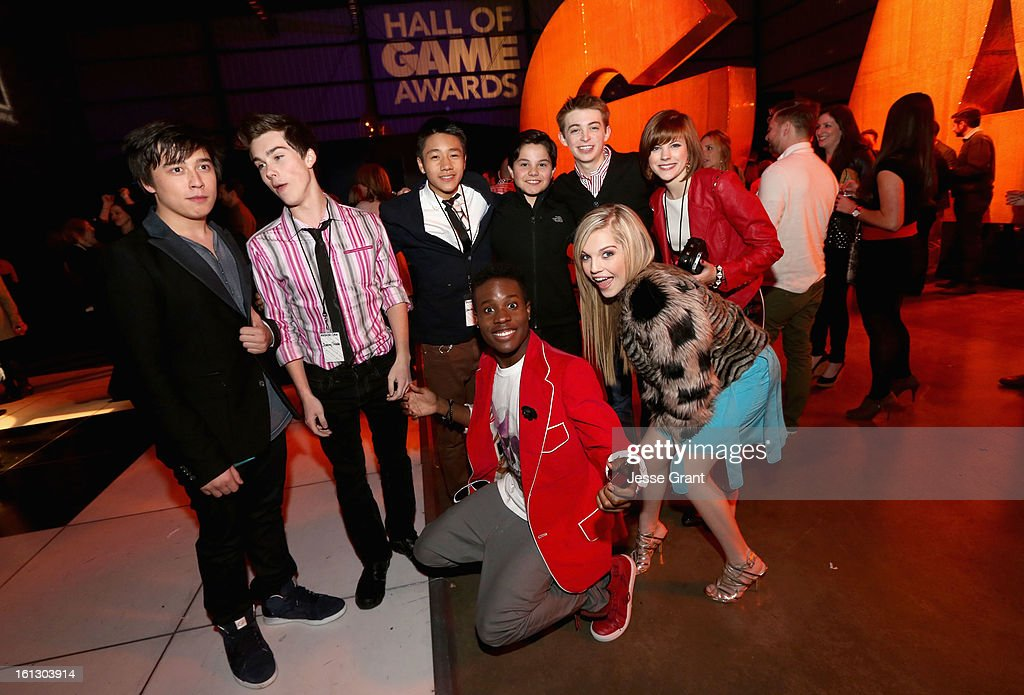 Cast of Level Up attends the Third Annual Hall of Game Awards hosted by Cartoon Network at Barker Hangar on February 9, 2013 in Santa Monica, California. 23270_005_JG_0055.JPG