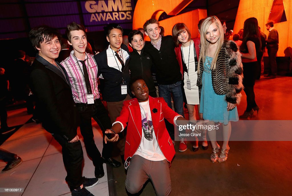 Cast of Level Up attends the Third Annual Hall of Game Awards hosted by Cartoon Network at Barker Hangar on February 9, 2013 in Santa Monica, California. 23270_005_JG_0054.JPG