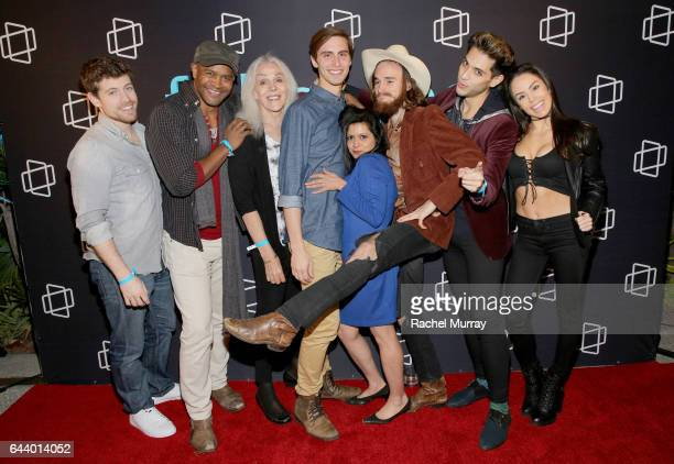 Cast of 'Magic Funhouse' TJ Smith Jude Lanston Paulette Jones Alex Diehl Nandini Minocha Jess Weaver Elise Christian and Brandon Rogers attend the...