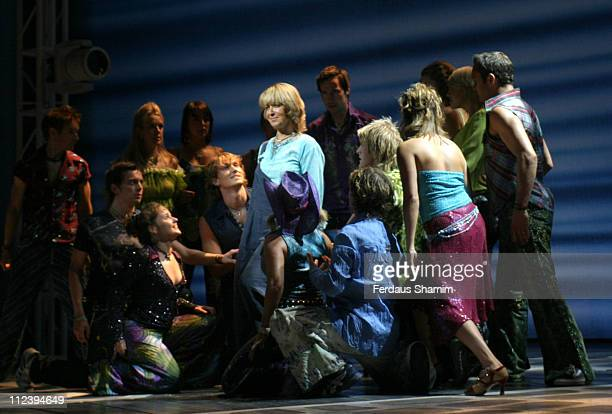 Cast of Mamma Mia during Kids Week In The West End Press launch July 25 2006 at Prince of Wales Theatre in London