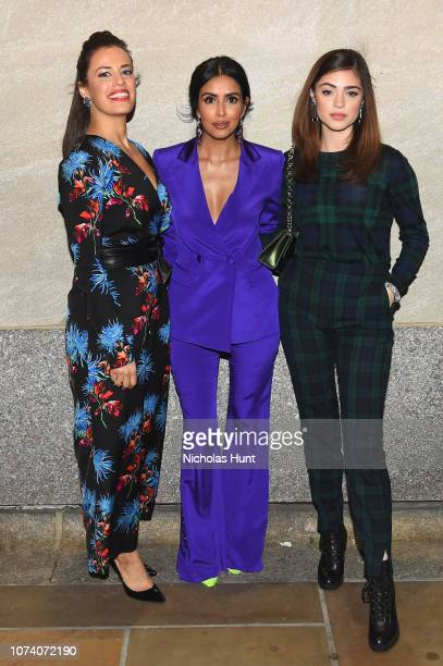 Cast of Manifest actors Athena Karkanis Parveen Kaur and Luna Blaise attend the 86th Annual Rockefeller Center Christmas Tree Lighting Ceremony at...