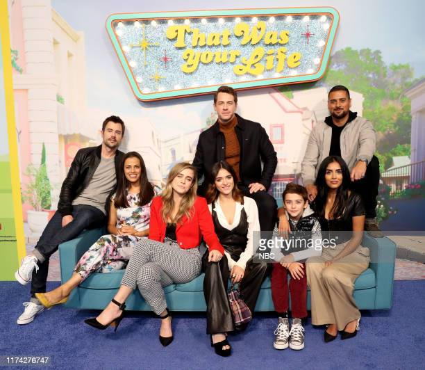 CON Cast of Manifest at the NBC NYCC Activation Pictured Matt Long Athena Karkanis Melissa Roxburgh Luna Blaise Josh Dallas Jack Messina Parveen Kaur...