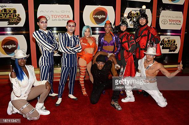 Cast of Michael Jackson ONE attend the Soul Train Awards 2013 at the Orleans Arena on November 8 2013 in Las Vegas Nevada
