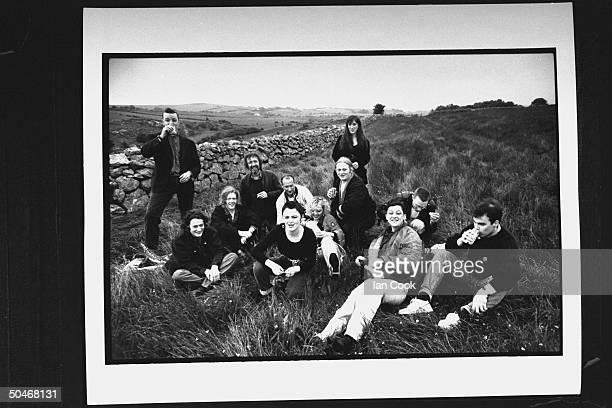 Cast of movie The Commitments drinking Coke incl Felim Gormley Robert Arkins Glen Hansard Johnny Murphy Dave Finnegan Bronagh Gallagher Angeline Ball...