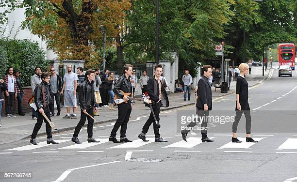 Cast Of New West End Theatre Show 'Backbeat' Abbey Road London Britain 01 Sep 2011 William Payne Oliver Bennett Andrew Knott Daniel Healy Nick Blood...