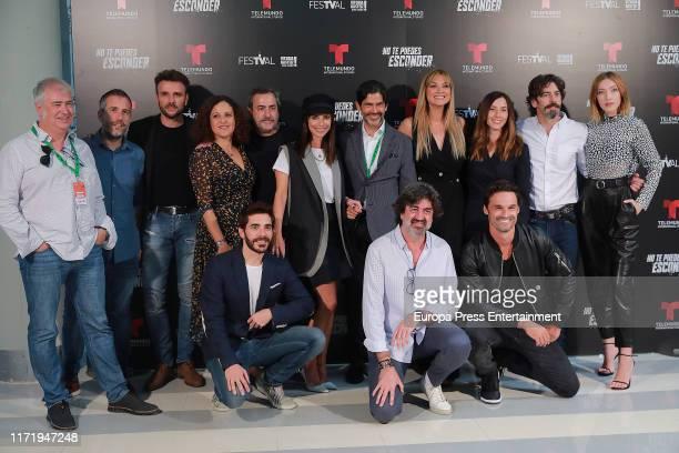 Cast of 'No te puedes escapar' attend the FesTVal Vitoria 2019 on September 03 2019 in VitoriaGasteiz Spain