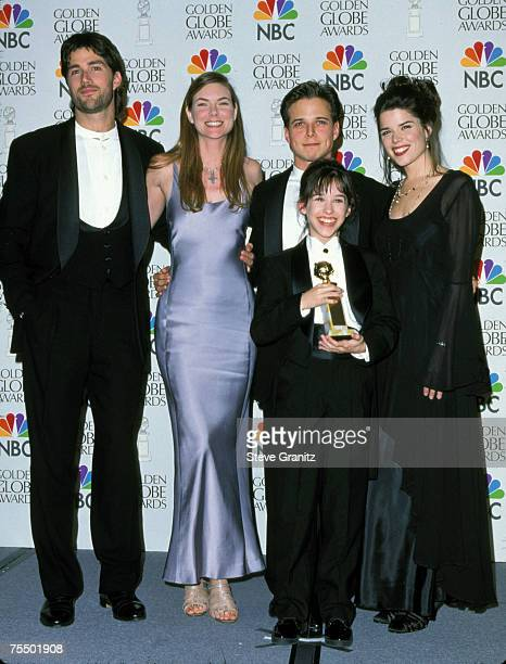 Cast of Party of Five Matthew Fox Paula Devicq Scott Wolf Lacey Chabert Neve Campbell at the Beverly Hilton Hotel in Beverly Hills California