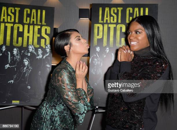 Cast Of Pitch Perfect 3 Chrissie Fit and Ester Dean Attend GrammyU Screening And QA Moderated By OnAir Personality Gigi Diaz In Miami at The Landmark...