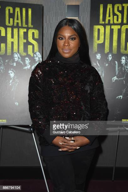 Cast Of Pitch Perfect 3 Ester Dean Attend GrammyU Screening And QA Moderated By OnAir Personality Gigi Diaz In Miami at The Landmark at Merrick Park...