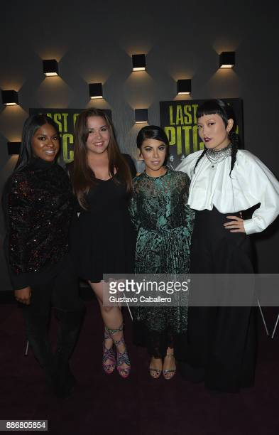 Cast Of Pitch Perfect 3 Ester DeanGigi DiazChrissie Fit and Hana Mae Lee Attend GrammyU Screening And QA Moderated By OnAir Personality Gigi Diaz In...