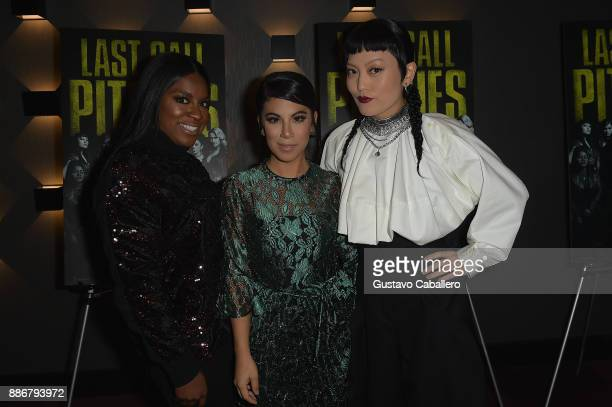 Cast Of Pitch Perfect 3Ester DeanChrissie Fit and Hana Mae Lee Attend GrammyU Screening And QA Moderated By OnAir Personality Gigi Diaz In Miami at...