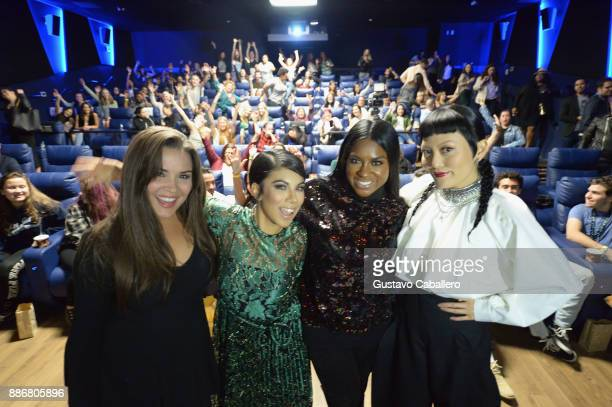 Cast Of Pitch Perfect 3Gigi DiazChrissie FitEster DeanHana Mae Lee Attend GrammyU Screening And QA Moderated By OnAir Personality Gigi Diaz In Miami...