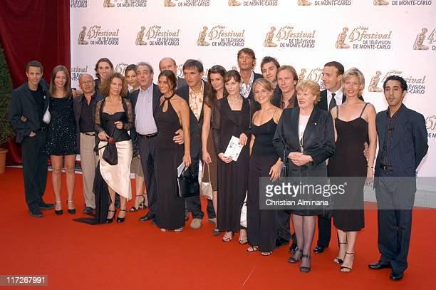 Cast of Plus Belle La Vie during 45th Monte Carlo Television Festival Opening Ceremony Red Carpet at Grimaldi Forum in Monte Carlo Monaco