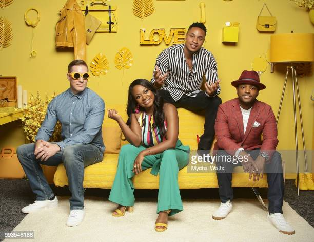 Cast of Power Joseph Sikora Naturi Naughton Rotimi and Larenz Tate at the 2018 Essence Music Festival Getty Portrait studio on July 7 2018 in New...