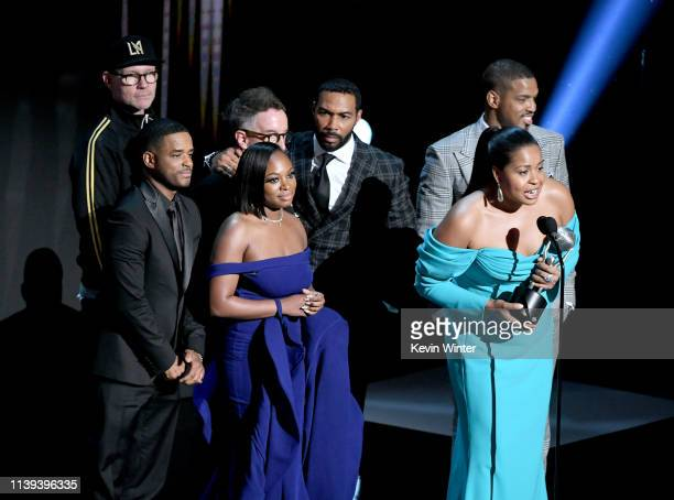 Cast of Power speaks onstage at the 50th NAACP Image Awards at Dolby Theatre on March 30 2019 in Hollywood California