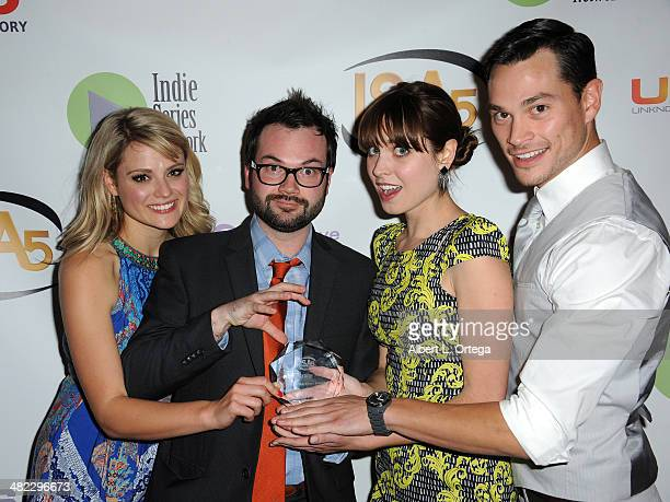 Cast of Professional Friend Best Webseries for a Comedy attend 5th Annual Indie Series Awards held at El Portal Theatre on April 2 2014 in North...