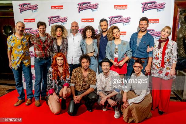 """Cast of """"Flashdance"""" The Musical Premiere at New Apolo Theater in Madrid on January 29, 2020 in Madrid, Spain."""