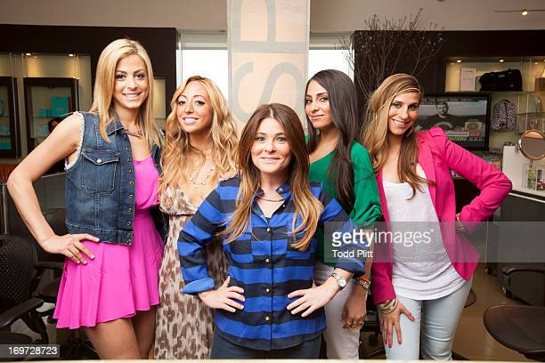 Cast of reality show 'Princesses of Long Island' Amanda Bertoncini Ashlee White Casey Cohen Chanel Omari and Erica Gimbel are photographed for USA...