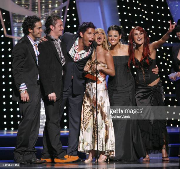 Cast of 'Rebelde RBD' during 2006 Premio Lo Nuestro Awards Show at American Airlines Arena in Miami Florida United States