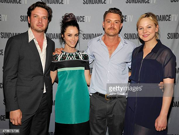 Cast of Rectify actorsÊAden Young Abigail Spencer Clayne Crawford and Adelaide Clemens attend SundanceTV's presentation of Panel Discussions...