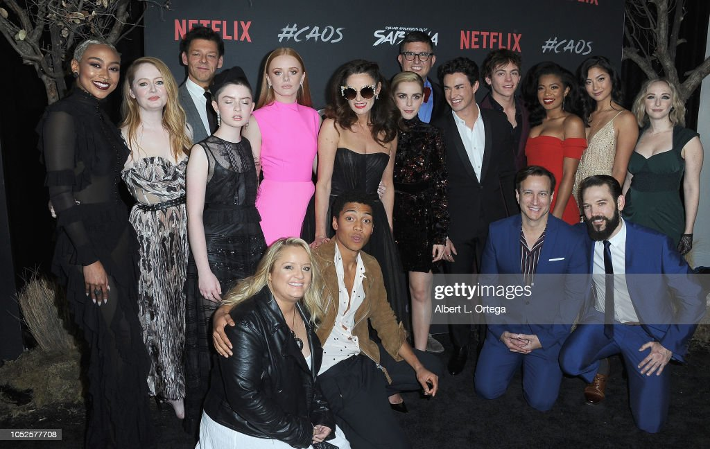 "Premiere Of Netflix's ""Chilling Adventures Of Sabrina"" - Arrivals : News Photo"