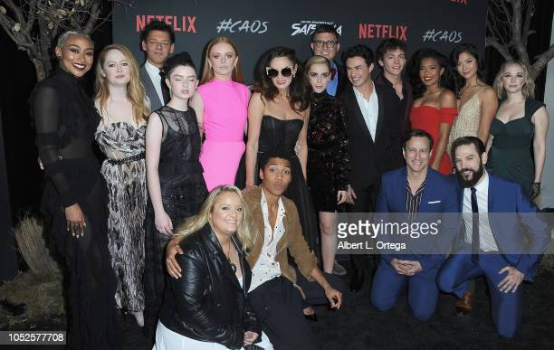 Cast of Sabrina at the Premiere Of Netflix's Chilling Adventures Of Sabrina held at The Hollywood Athletic Club on October 19 2018 in Hollywood...