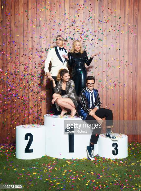 Cast of Schitt's Creek are photographed for TV Guide Magazine on August 11 2019 in Los Angeles California