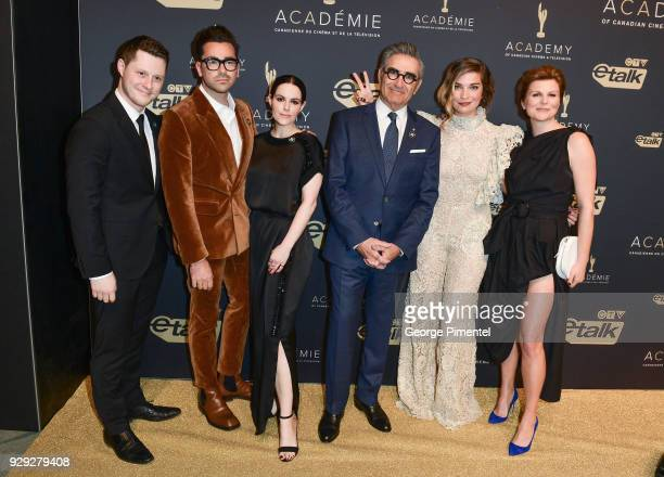 Cast of Schitt's Creek Noah Reid Dan Levy Emily Hampshire Eugene Levy Annie Murphy and Jennifer Robertson attend Gala Honouring Excellence in...