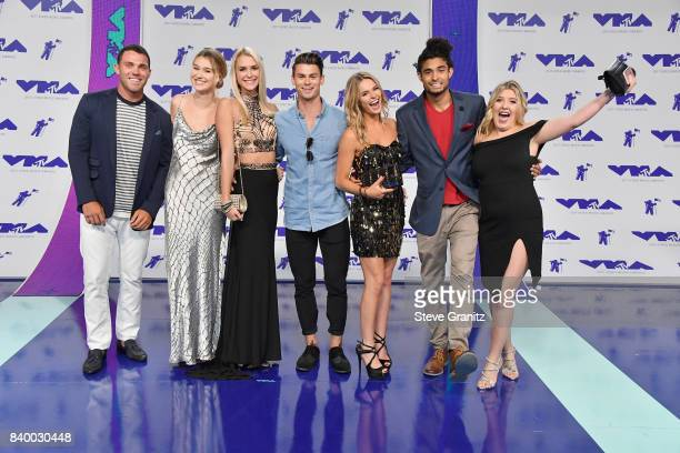 Cast of Siesta Key attends the 2017 MTV Video Music Awards at The Forum on August 27, 2017 in Inglewood, California.