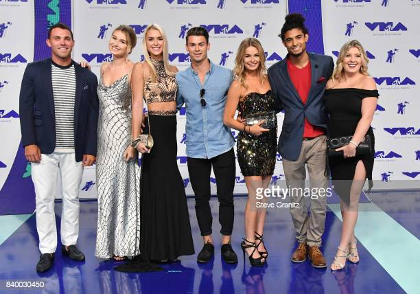 Cast of Siesta Key attends the 2017 MTV Video Music Awards at The Forum on August 27 2017 in Inglewood California