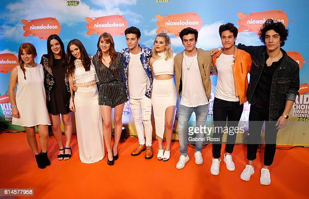 Cast of Soy Luna during Orange Carpet as part of Nickelodeon KidsÕChoice Awards Argentina 2016 at Teatro Coliseo on October 13 2016 in Buenos Aires...