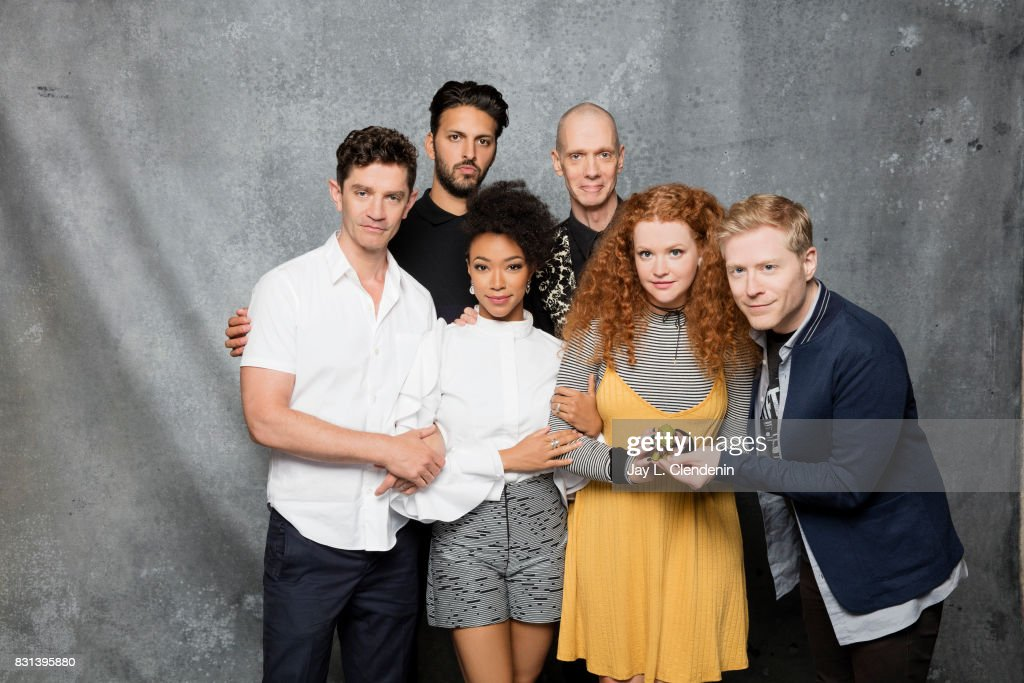 Cast of 'Star Trek Discovery' (James Frain, Shazad Latif, Sonequa Martin-Green, Doug Jones, Mary Wiseman and Anthony Rapp) are photographed in the L.A. Times photo studio at Comic-Con 2017, in San Diego, CA on July 22, 2017.