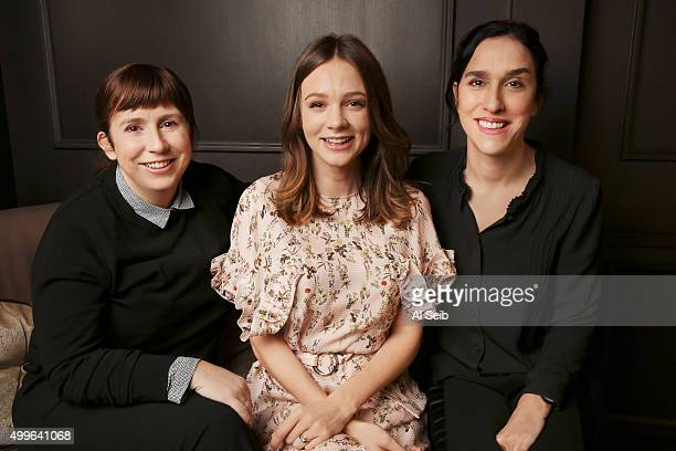 Cast of 'Suffragette' Carey Mulligan Abi Morgan and Sarah Gavron are photographed for Los Angeles Times on November 9 2015 in Los Angeles California...