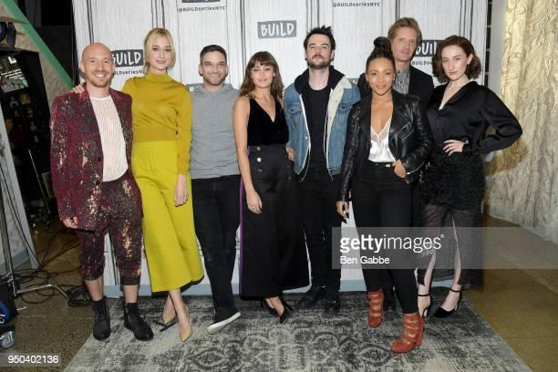 Cast of 'Sweetbitter' Daniyar Caitlin FitzGerald Evan Jonigkeit Ella Purnell Tom Sturridge Jasmine Mathews Paul Sparks and Eden Epstein visit the...