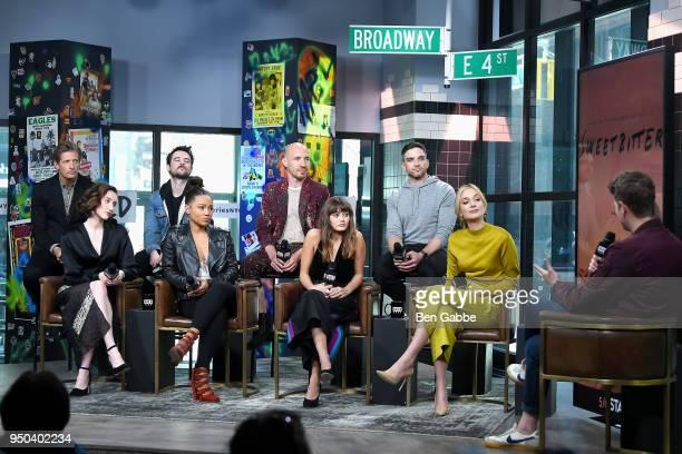 Cast of 'Sweetbitter' Paul Sparks Eden Epstein Tom Sturridge Jasmine Mathews Daniyar Ella Purnell Evan Jonigkeit and Caitlin FitzGerald visit the...