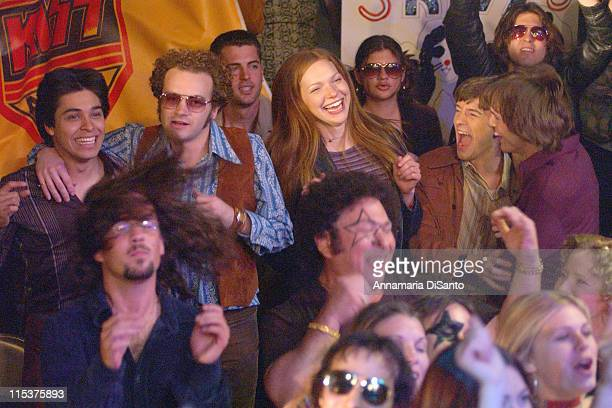Cast of 'That 70's Show' watching KISS perform during Special Performance of KISS on the Season Opener of 'That 70's Show' at Hollywood Studios in...
