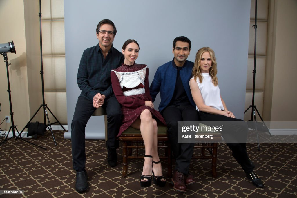Ray Romano, Zoe Kazan Kumail Nanjiani and Holly Hunter are photographed for Los Angeles Times on November 10, 2017 in Beverly Hills, California. PUBLISHED IMAGE.
