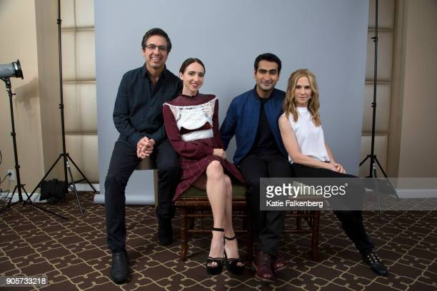 Ray Romano Zoe Kazan Kumail Nanjiani and Holly Hunter are photographed for Los Angeles Times on November 10 2017 in Beverly Hills California...