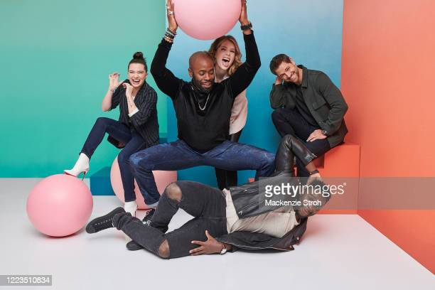 Cast of 'The Bold Type' Katie Stevens, Stephen Conrad Moore, Meghann Fahy, Matt Ward and Sam Page are photographed for Entertainment Weekly Magazine...