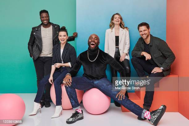 Cast of 'The Bold Type' Matt Ward, Katie Stevens, Stephen Conrad Moore, Meghann Fahy and Sam Page are photographed for Entertainment Weekly Magazine...