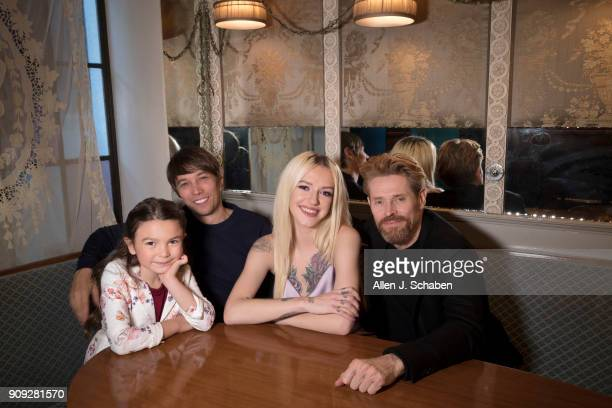 Actors Willem Dafoe Brooklynn Prince Bria Vinaite and director Sean Baker are photographed for Los Angeles Times on November 11 2017 in Hollywood...