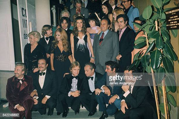 Cast of the French television show Systeme Deux at the Maison de la Radio in Paris Pierre Billon JeanMarc Thibault Claude Francois show host and...