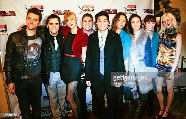 Cast of 'The Garlock Incident' participate in the Shockfest Film Festival Awards Show Gala held at Raleigh Studios on November 17 2012 in Los Angeles...