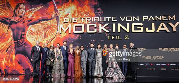 Cast of The Hunger Games at The Hunger Games Mockingjay Part 2 world premiere on November 04 2015 in Berlin Germany