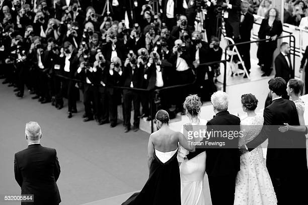 Cast of the movie attend the 'Personal Shopper' premiere during the 69th annual Cannes Film Festival at the Palais des Festivals on May 17 2016 in...
