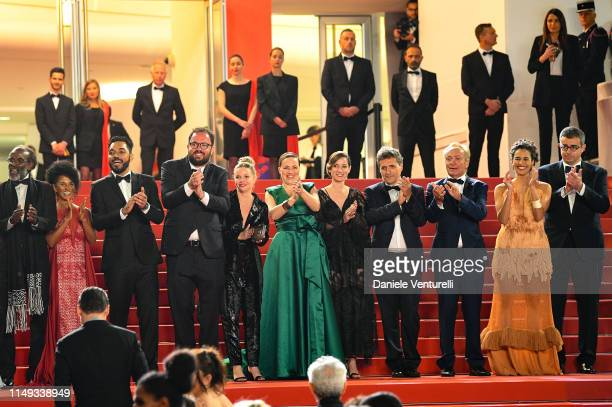 "Cast of the movie attend the screening of ""Bacurau"" during the 72nd annual Cannes Film Festival on May 15, 2019 in Cannes, France."