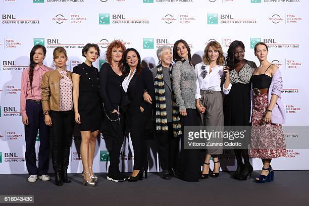 Cast of the movie attends a photocall for '7 Minuti' during the 11th Rome Film Festival at Auditorium Parco Della Musica on October 21 2016 in Rome...